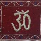 Indian Velvet Embroidery Art Handmade Jaipur Hindu Om Decor Ethnic Handicraft
