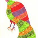 Gond Indian Painting Handmade Madhya Pradesh Tribal Folk Miniature Bird Art