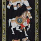 Indian Animal Miniature Silk Painting Handmade Elephant Horse Camel Nature Art