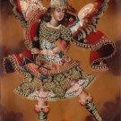 Archangel San Miguel Peruvian Cuzco Art Handmade Canvas Oil St Michael Painting