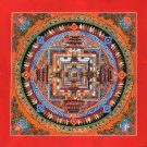 Kalachakra Mandala Art Handmade Tibetan Thangka Buddhist Meditation Painting