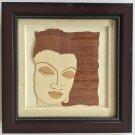 Buddha Face Decor Art Handmade Wood Carving Indian Buddhist Marquetry Handicraft