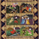 Persian Style Art Illuminated Manuscript Handmade Islamic Calligraphy Painting