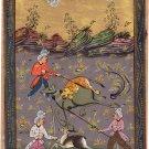 Persian Illuminated Manuscript Miniature Art Handmade Muslim Islamic Painting