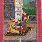 Mughal Miniature Painting Handmade Moghul Emperor Royal Palace Mogul Empire Art