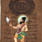 Parasurama Vishnu Avatar Art Handmade Stamp Paper Indian Deity Hindu Painting