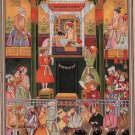 Mughal Empire Miniature Padshahnama Painting Handmade Shah Jahan Shah Shuja Art
