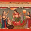 Kangra School Love Radha Painting Handmade Indian Miniature Pahari Ethnic Art