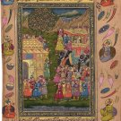 Moghul Miniature Art Handmade Indian Mughal Empire Royal Procession Painting
