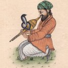 Rajasthani Snake Charmer Folk Art Handmade Indian Miniature Portrait Painting
