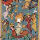 Persian Miniature Painting Handmade Sultan Muhammad Khamsa of Nizami Islamic Art