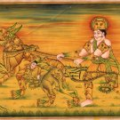 Rajasthani Composite Human Beast Painting Indian Ethnic Miniature Watercolor Art