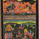 Rajasthan Miniature Painting Handpainted Indian Folk Ethnic Hunt Procession Art