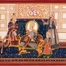 Mughal Art Emperor Bahadur Shah Zafar Handmade Indian Miniature Moghul Painting