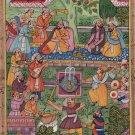 Mughal Miniature Painting Handmade Emperor Akbar Moghul Dynasty Indian Artwork