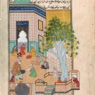 Persian Miniature Islamic Painting Handmade Rare Illuminated Manuscript Folk Art
