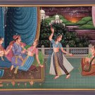 Mogul Miniature Painting Handmade Indian Mughal Emperor Watercolor Ethnic Art