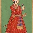 Rajasthani Painting Jaipur Maharajah Handmade Miniature Decor Portrait India Art