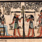 Egyptian Papyrus Weighing of the Heart Painting Handmade Egypt Historical Art