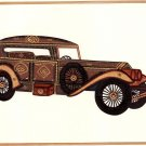 Rajasthani Miniature Automobile Art Handmade Indian Antique Car Decor Painting