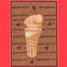 Vishnu Pada Footprint Tantrik Painting Handmade India Hindu God Foot Tantric Art