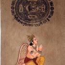 Garuda Hindu Bird God Painting Handmade Indian Miniature Stamp Paper Ethnic Art