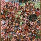 Persian Miniature Chaldiran Battle Painting Handmade Indian Ethnic History Art