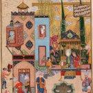 Persian Miniature Solomon Bilqis Painting Handmade Indian Jami Haft Awrang Art