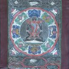 Samantabhadra Buddha Mandala Thangka Art Handmade Brocade Wall Decor Painting