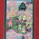 Mughal Emperor Babur Painting Handmade Indian Moghul Miniature Ethnic Decor Art