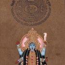 Kali Ma Hindu Goddess Painting Handmade Indian Miniature Spiritual Ethnic Art