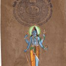 Shiva Vishnu Harihara Painting Handmade Indian Miniature Hindu Deity Ethnic Art