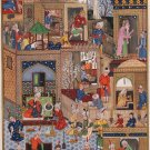 Indo Persian Miniature Art Handmade Mir Sayyid Ali Ethnic Safavid Decor Painting