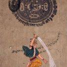 Indra Hindu Deity Painting Handmade Indian Miniature Decor Ethnic Hinduism Art