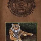 Indian Miniature Painting Royal Bengal Tiger Handmade Wild Fierce Animal Art