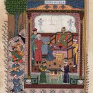 Persian Islamic Miniature Handmade Painting Illuminated Manuscript Ethnic Art