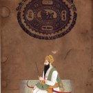 Sikh Sardar Gurbaksh Singh Kanhaiya Portrait Art Handmade Punjab Ethnic Painting