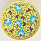 Jaipur Blue Pottery Ceramic Plate Art Handmade Indian Wall Hanging Decor Artwork