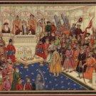 Mughal Miniature Indian Maratha Painting Handmade Shivaji Aurangzeb Moghul Art