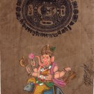 Ganesha Mouse Vahana Painting Handmade Indian Miniature Ethnic Ganesh Hindu Art