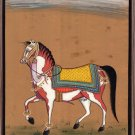Indian Marwari Horse Art Handmade Stallion Watercolor Decor Miniature Painting