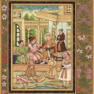 Mughal Miniature Painting Handmade Indian Shah Jahan Royalty Ethnic Mogul Art