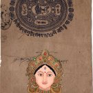 Hindu Goddess Durga Handmade Painting Indian Spiritual Miniature Ethnic Folk Art