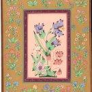 Mughal Miniature Floral Painting Handmade Moghul Indian Muslim Ethnic Flower Art