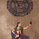 Sorathi Ragini Miniature Painting Indian Rajasthani Ethnic Handmade Selfie Art