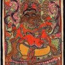 Madhubani Ganesha Art Handmade Indian Tribal Folk Mithila Bihar Ethnic Painting