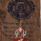 Kamakshi Devi Hindu Goddess Painting Handmade Indian Ethnic Miniature Yogic Art