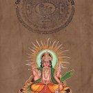 Surya Sun God Hindu Art Handmade Indian Miniature Ethnic Aditya Deity Painting