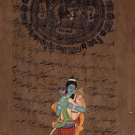 Rama Hanuman Hindu God Art Handmade Indian Miniature Ramayana Religious Painting