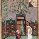 Persian Miniature Islamic Painting Handmade Rare Illuminated Manuscript Folk Art